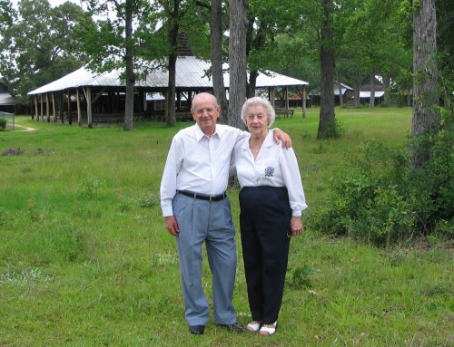 [Rick's grandparents and the Cattle Creek tabernacle]